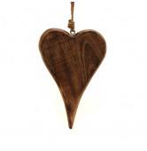 Herz hängend Holz L