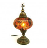 Mosaik Tischlampe gold