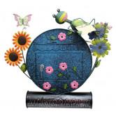 boite aux lettres fleur grenouille