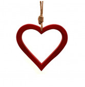 Herz hängend Holz