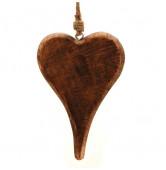 Herz hängend Holz XL