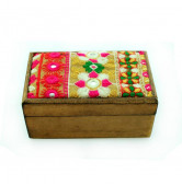 Holzbox rechteckig braun