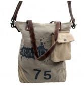 Handtasche-Vintage-Canvas