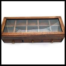Holzboxen m. Glasdeckel